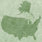 Strukturierte Usa-Karte — Stockvektor