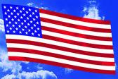 USA flag on sky — Stock Vector