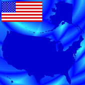 USA map on abstract background — Stock Vector