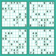Set of the sudoku — Stock Vector #54345415