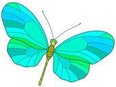 Motley butterfly — Stock Vector