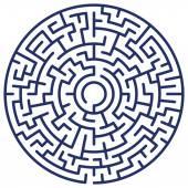 Round maze — Stock Vector