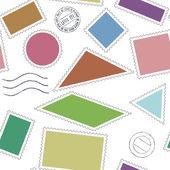 Stamps icons pattern — Stok Vektör
