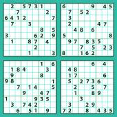 Set of the sudoku — Stock Vector
