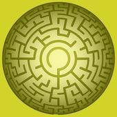 Convex round maze — Stock Vector