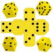 Dice cubes — Stock Vector