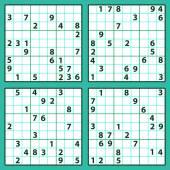 Sudoku puzzles — Stock Vector