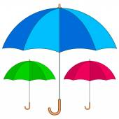Umbrellas — Stock Vector