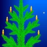 julgran med ljus — Stockvektor  #59686253