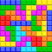 Tetris game elements — Stock Vector