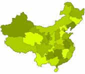 China contour map — Stock Vector