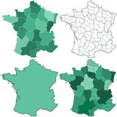 France maps — Stock Vector