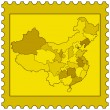 Map of China on stamp — Stock Vector #67186637