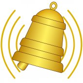 Ringing bell icon — Stock Vector