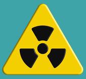 Radiation symbol on danger sign — Stock Vector
