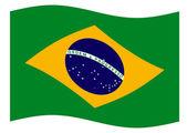 Flapping Brazil flag — Stock Vector