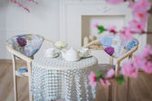 Table to drink tea — Stock Photo