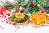 Christmas candles — ストック写真