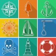 Nautical icons — Stock Vector #52278611