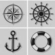 Nautical icons — Stock Vector #52278617