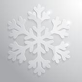 Glass snowflake. — Stock Vector