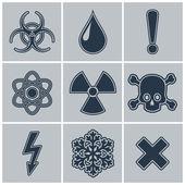 Warning symbols. — Stock Vector