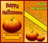 Conjunto de fondos de Feliz Halloween. — Vector de stock