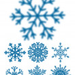 Blured snowflakes isolated — Stock Vector #58899607