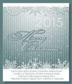 雪の結晶クリスマス銀の背景. — ストックベクタ