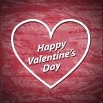 Valentines Day red grunge background — Stock Vector #62176393