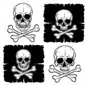 Set of Skull and Crossbones — Stock Vector