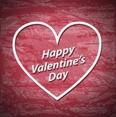 Valentines Day red grunge background — 图库矢量图片