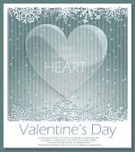 Valentines Day glass transparent heart — Wektor stockowy
