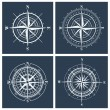 Set of compass roses — Stock Vector #77376488