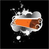 Grunge retro shield — Stock Vector