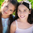 Portrait of two hispanic teen girls — Stock Photo #56504595