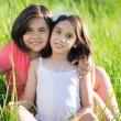 Portrait of two hispanic teen girls — Stock Photo #56741583