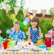 Outdoor birthday party for toddlers — Stock Photo #56747243