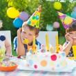 Outdoor birthday party for children — Stock Photo #56747333