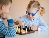 Cute children playing at home — Foto de Stock