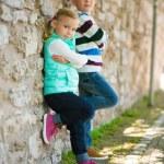 Two happy children — Stock Photo #75937683