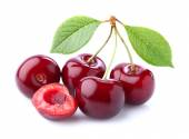 Sweet cherry on a white background — Stock Photo