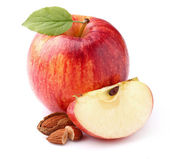 Apple with almond — Stockfoto