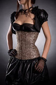Woman in Victorian style costume — Stock Photo