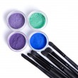 Mineral eye shadows and brushes — Foto Stock #59523161