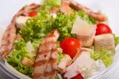 Caesar salad with chicken meat — Stock Photo