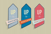 Vintage labels with success text — Stockvektor