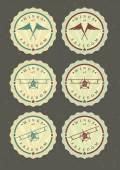 Set of aviator icons — Stock Vector