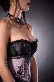 Busty woman in elegant corset  — Stock Photo