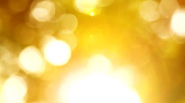HD grained gold bokeh background — Stock Video
